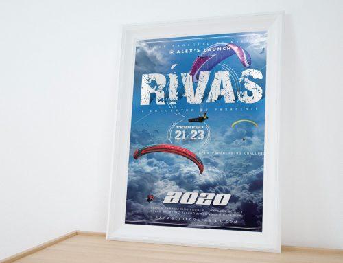 Cartel RIVAS paragliding